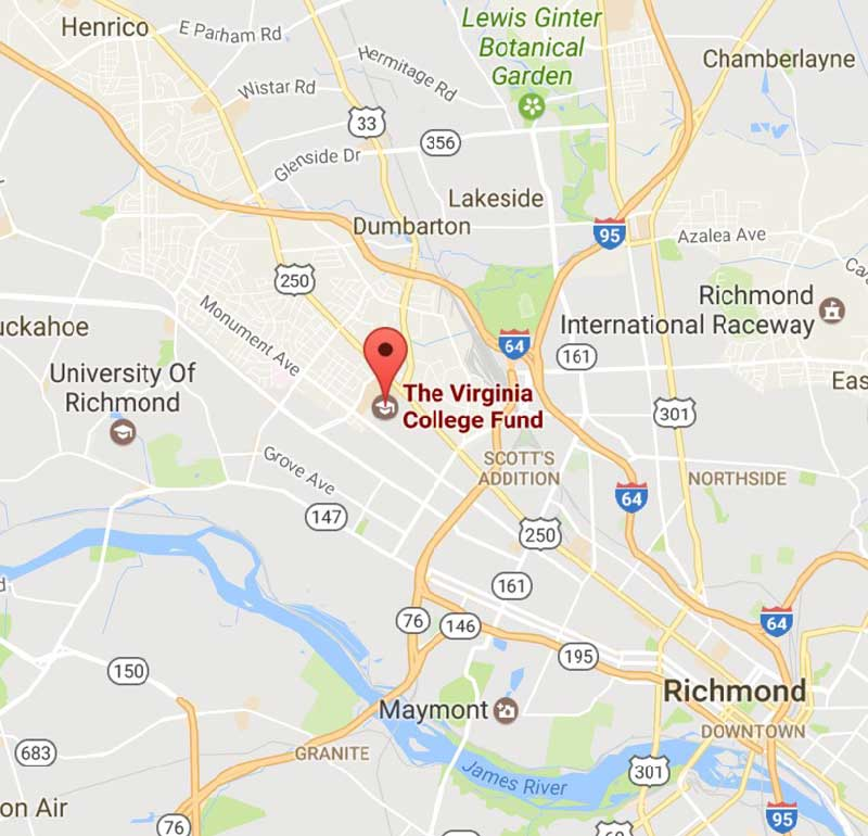 The Virginia College Fund location in Richmond