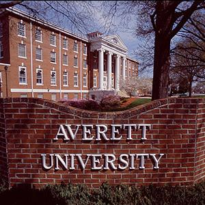Averett University sign