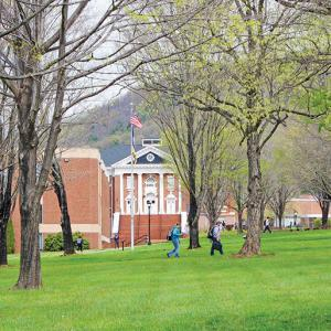 Ferrum College in early Spring