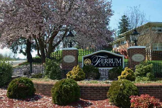 Ferrum college campus sign